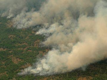 Imagen de los incendios en el Amazonas