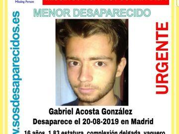 Gabriel Acosta, desaparecido en Madrid
