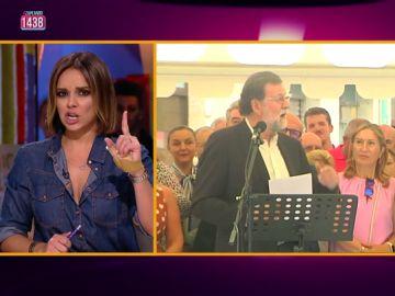 """La imitación de Chenoa a Mariano Rajoy: """"Los intelectuales se han metido conmigo por decir 'viva el vino'"""""""