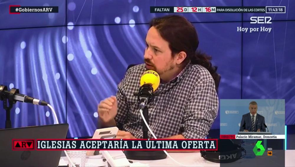 Pablo Iglesias en la cadena SER