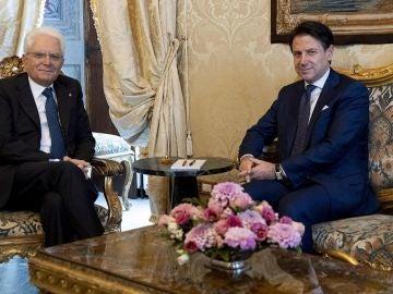 Giuseppe Conte y Sergio Mattarella