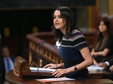 La portavoz de Ciudadanos en el Congreso, Inés Arrimadas