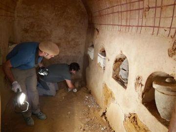 La cámara funeraria romana hallada en Carmona.