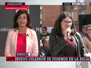 """Concha Andreu justifica el nombramiento de Raquel Romero como consejera en La Rioja: """"Es la diputada que tiene el escaño"""""""