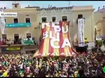 Ciudadanos acusa al PSC de permitir pancartas independentistas en Villafranca del Panadés