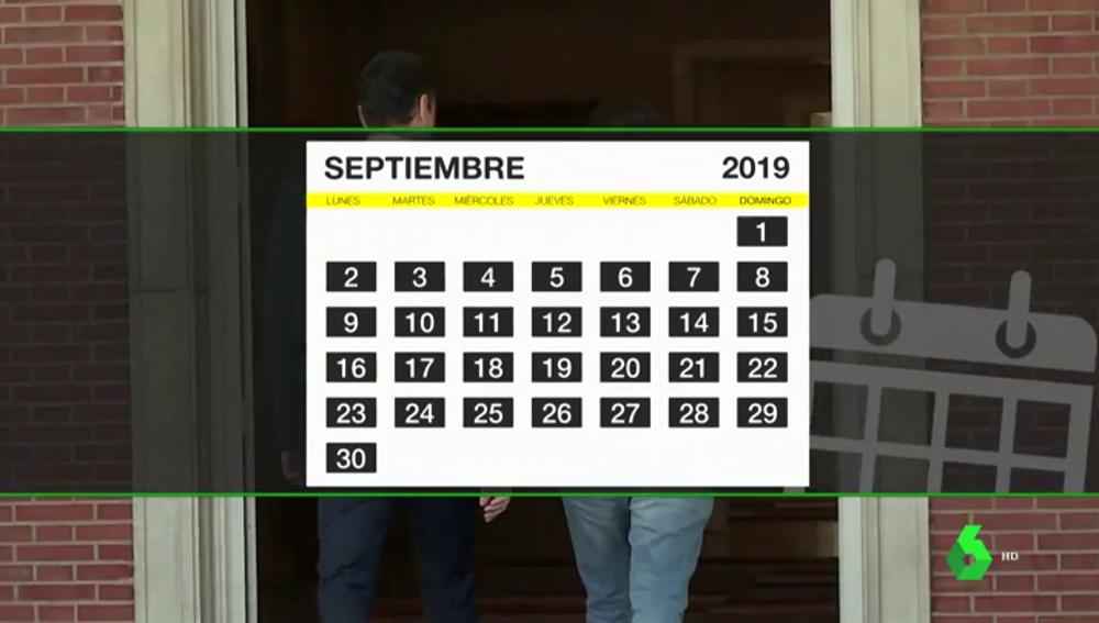 El apretado calendario político que puede llevarnos a nuevas elecciones a finales de septiembre