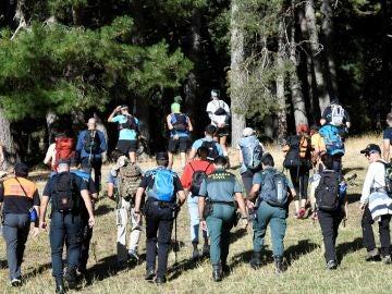 El dispositivo de búsqueda de laexesquiadora española Blanca Fernández Ochoa en Cercedilla, Madrid