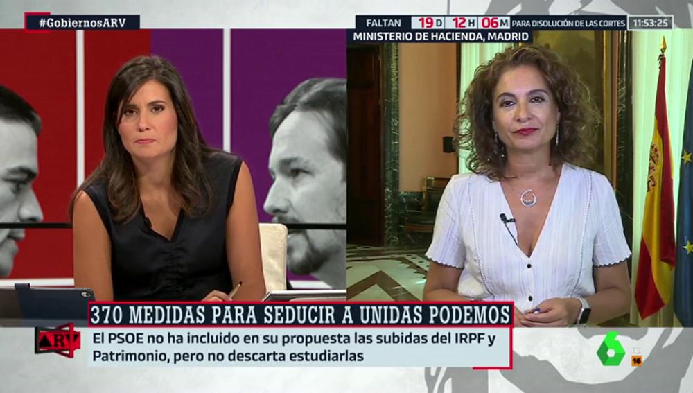 """María Jesús Montero (PSOE): """"Nuestro documento da respuesta a las exigencias de Pablo Iglesias"""""""