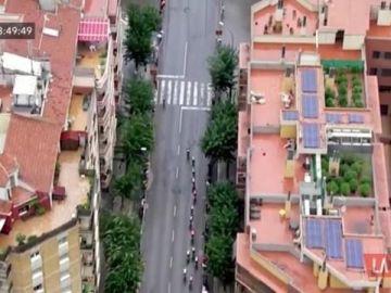 La imagen del helicóptero de la Vuelta en la que se captó una plantación de marihuana