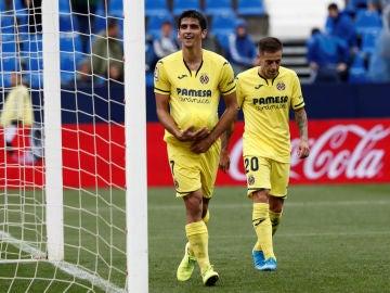 Gerard Moreno celebra un gol