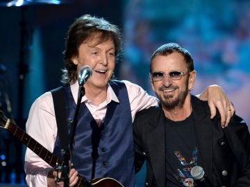 Paul McCartney y Ringo Starr, tocando juntos en Los Ángeles