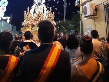 Imagen que publicaron de una procesión en las Fiestas de Otura
