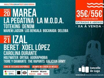Cartel del festival Caudal Fest, en Lugo