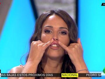Patricia Benítez se une al reto viral de pegarse los labios con pegamento