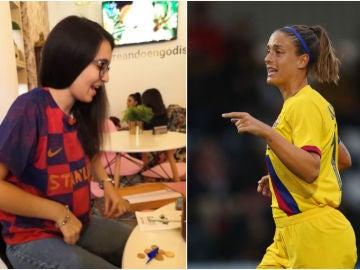 Alexia Putellas y su detalle con una joven aficionada del Barça