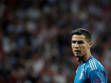 Cristiano Ronaldo, durante el partido contra el Atlético de Madrid