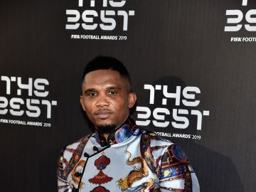 Samuel Eto'o, posando en la gala 'The Best'