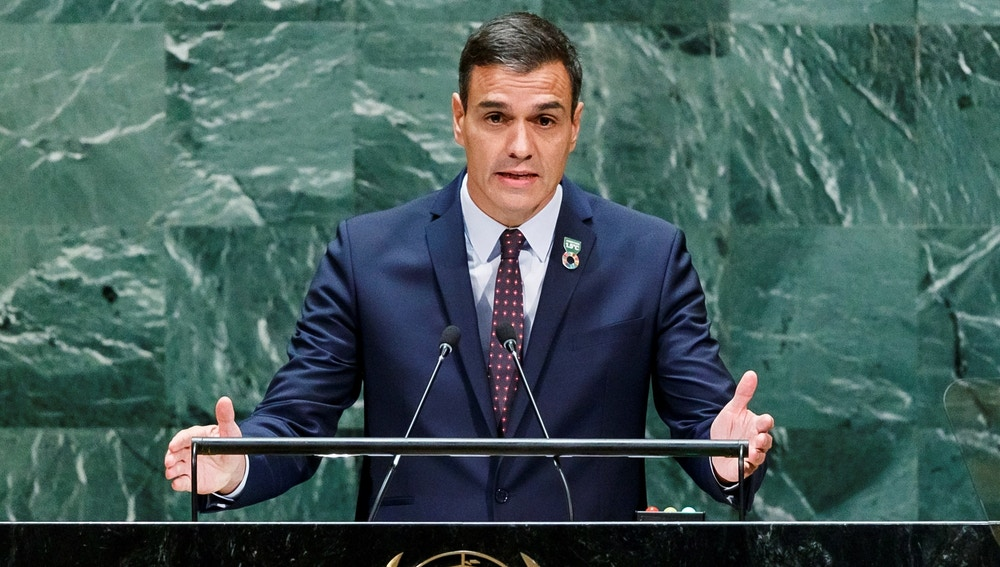 El presidente del Gobierno español en funciones, Pedro Sánchez