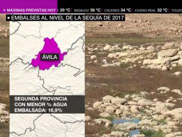 Alarma en los embalses, al nivel de la sequía de 2017: no superan el 40% de su capacidad