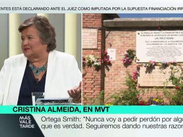 """Cristina Almeida, sobre Vox: """"Hablan de venganza, pero hay una España en las cunetas. Cada fosa que se abre es una herida que se cierra"""""""