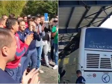 Los jugadores del Estrella Roja, retenidos en Kosovo