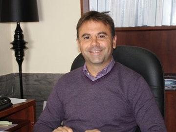 El presidente del Extremadura, Manuel Franganillo