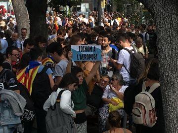Manifestación tras la sentencia del procés