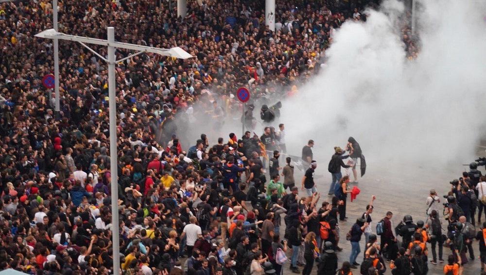 Manifestación en el Prat