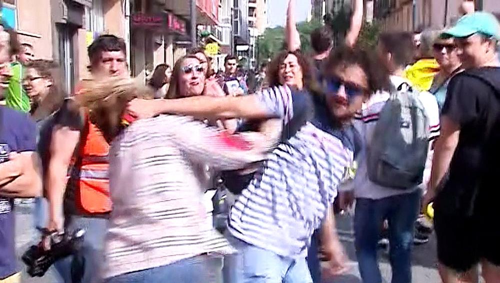 Agresión a una mujer en las protestas por la sentencia del procés