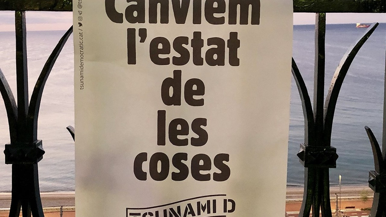 El lema de la plataforma ciudadana 'Tsunami Democràtic'
