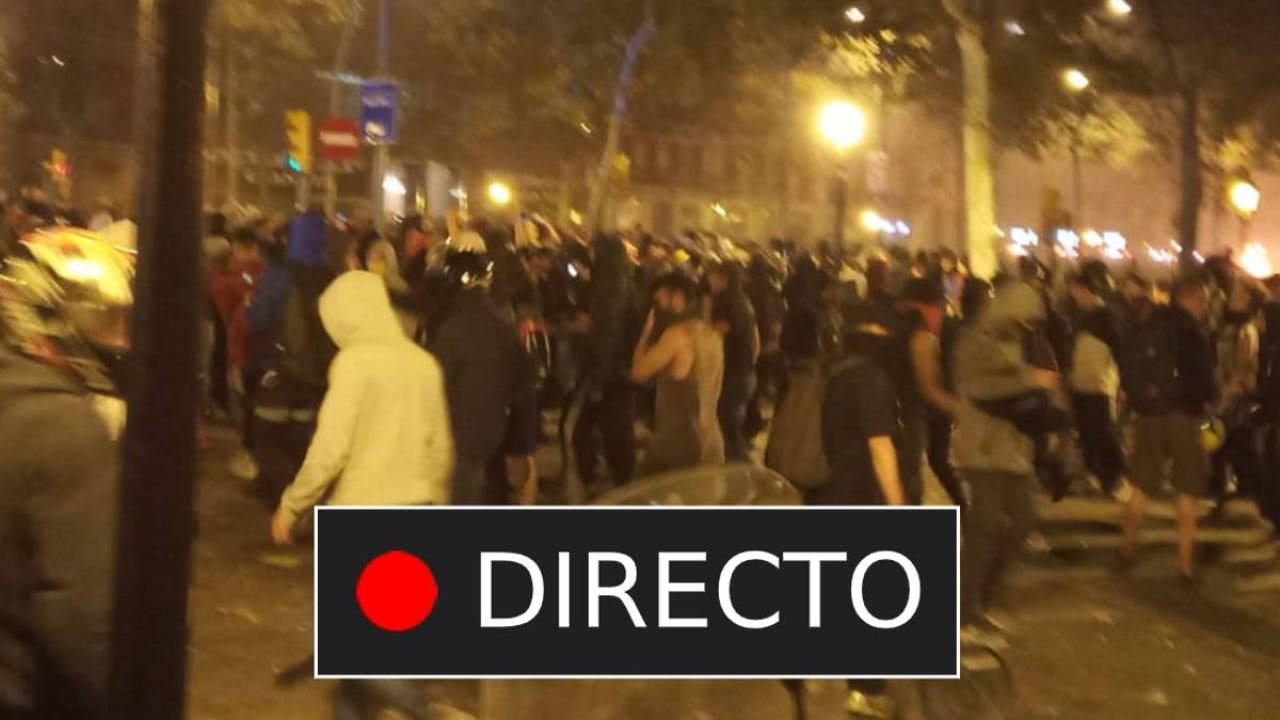 Última hora desde Cataluña Disturbios en Barcelona