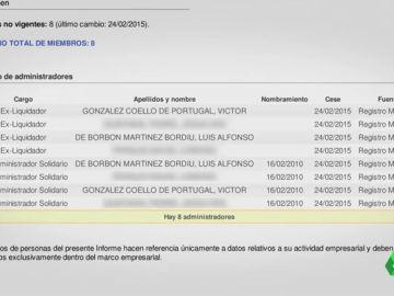 """La relación de Luis Alfonso de Borbón y el vicepresidente de Vox: del deporte a """"empresas de iniciativa compartida"""""""