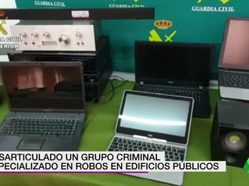 Desarticulado un grupo criminal especializado en robos en los edificios públicos de 13 provincias distintas