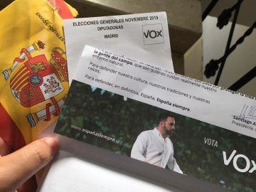 Sobre de propaganda electoral de Vox