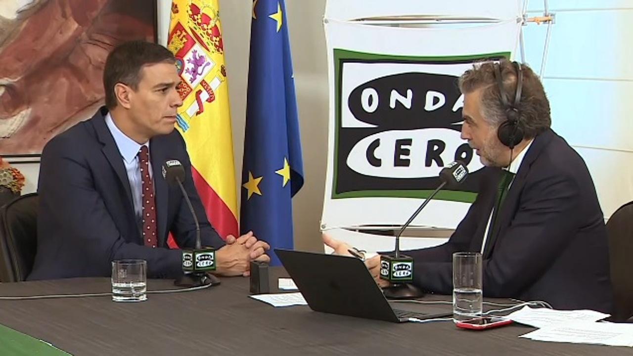 Pedro Sánchez responde a Carlos Alsina en su entrevista en Más de uno