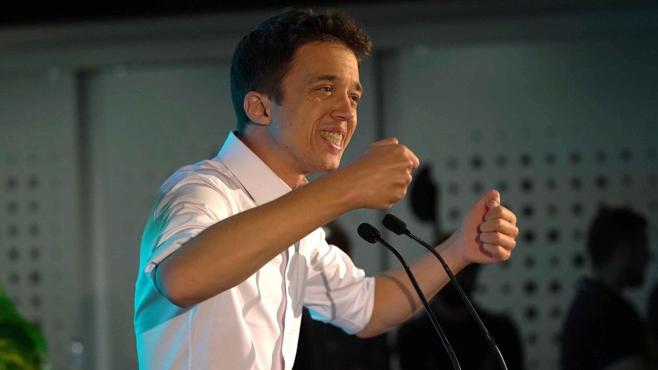 Íñigo Errejón, durante el primer acto de campaña electoral con Más País
