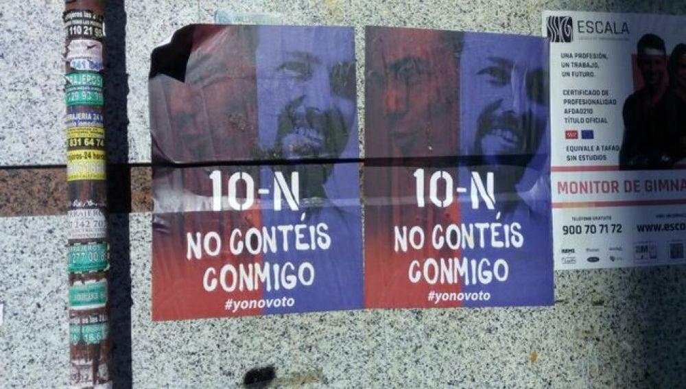 Campaña para promover la abstención en la calles de Madrid