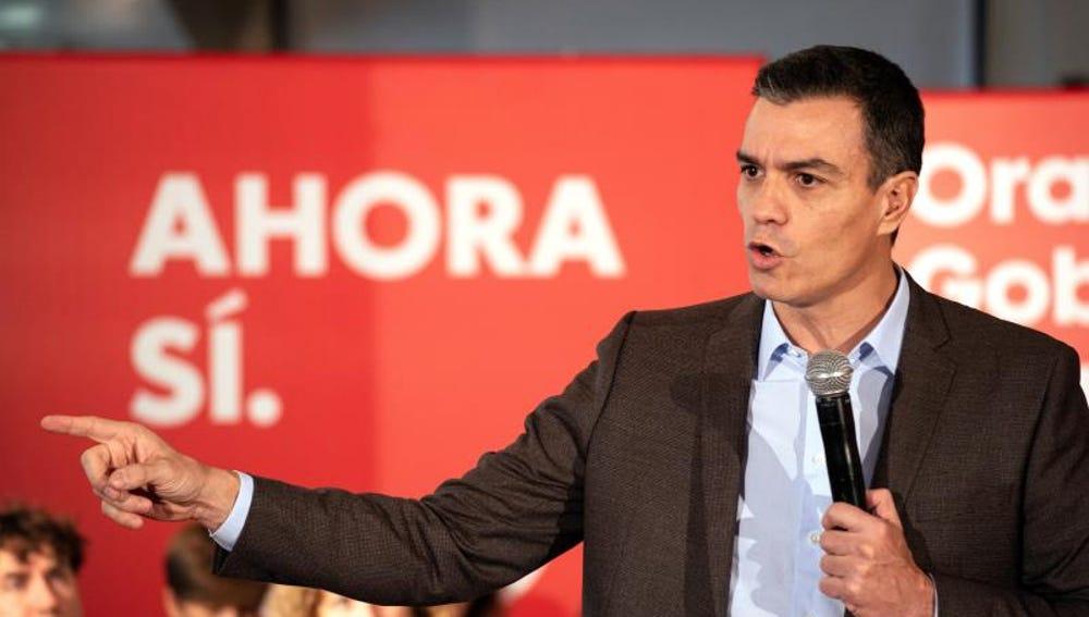Pedro Sánchez en un mitin (Archivo)