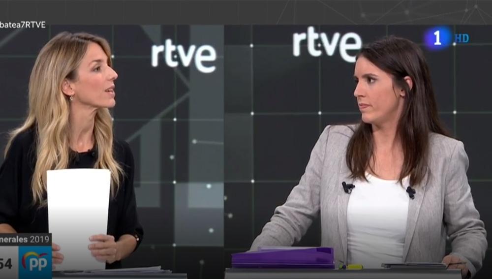 Tensión entre Álvarez de Toledo e Irene Montero en pleno debate