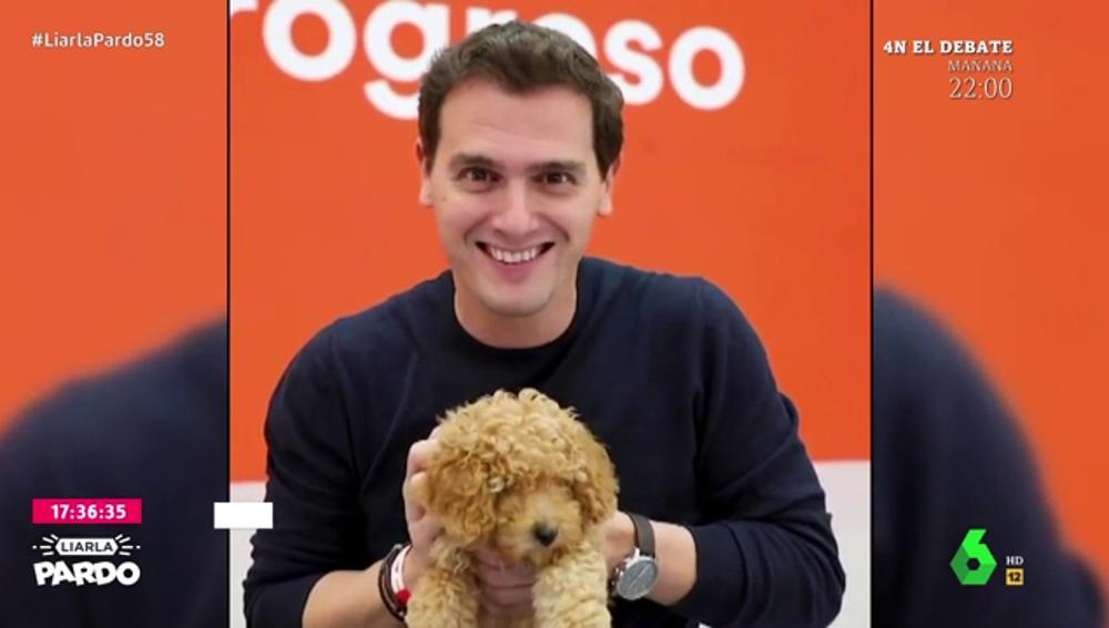 "Albert Rivera presenta su ""arma secreta"": Lucas, un cachorro que ""aún huele a leche"""