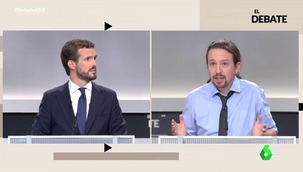 """La respuesta de Iglesias a Casado ante un posible pacto Podemos-PSOE: """"De sobres con dinero, sabéis más que nadie"""""""