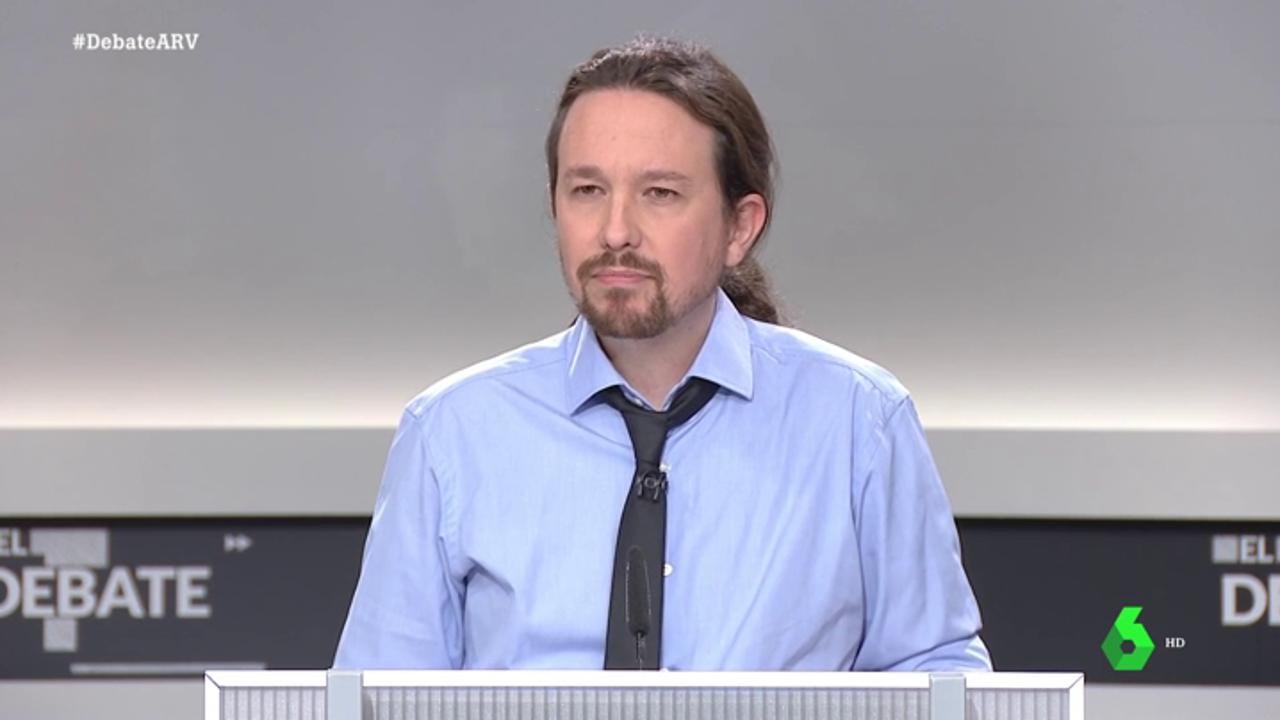 Pablo Iglesias en el debate