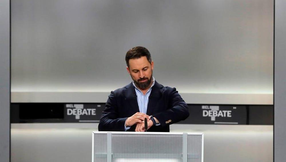 Santiago Abascal en el debate del 4N