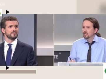 Pablo Casado y Pablo Iglesias