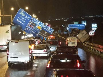 Accidente de tráfico en la A2