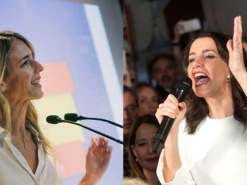 Cayetana Álvarez de Toledo (PP) e Inés Arrimadas (Cs)