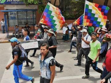 Marcha para condenar y pedir justicia por las muertes ocasionadas tras los disturbios en Bolivia