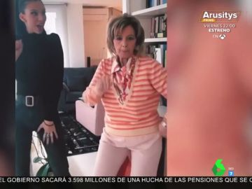 El baile de María Teresa Campos con su nieta al ritmo de Maluma