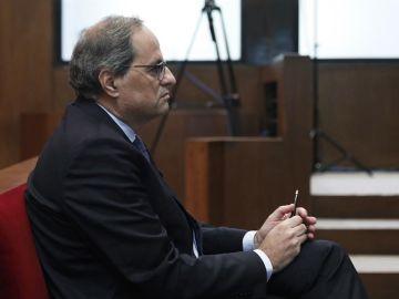Quim Torra durante el juicio