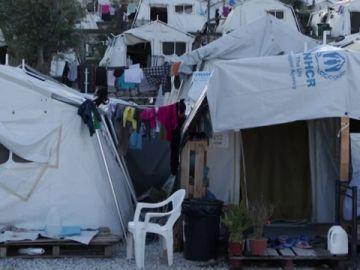 Imagen de Moria, campo de refugiados de Grecia